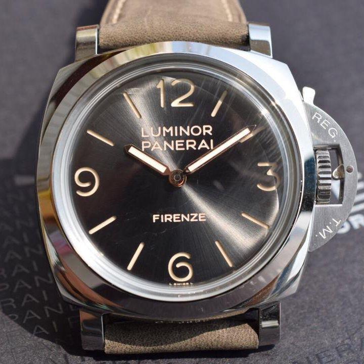 【实拍图鉴赏】SF厂超A精仿手表之沛纳海灰面PAM00605男表价格报价