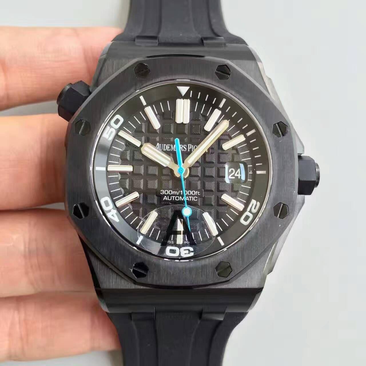 【JF厂一比一高仿手表】AP爱彼皇家橡树15703系列黑壳男表