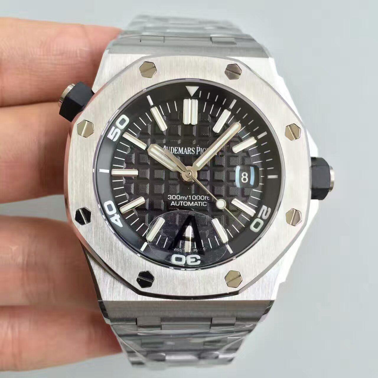 【JF厂一比一精仿手表】AP爱彼皇家橡树离岸型系列15710ST.OO.A002CA.01腕表《钢带款》