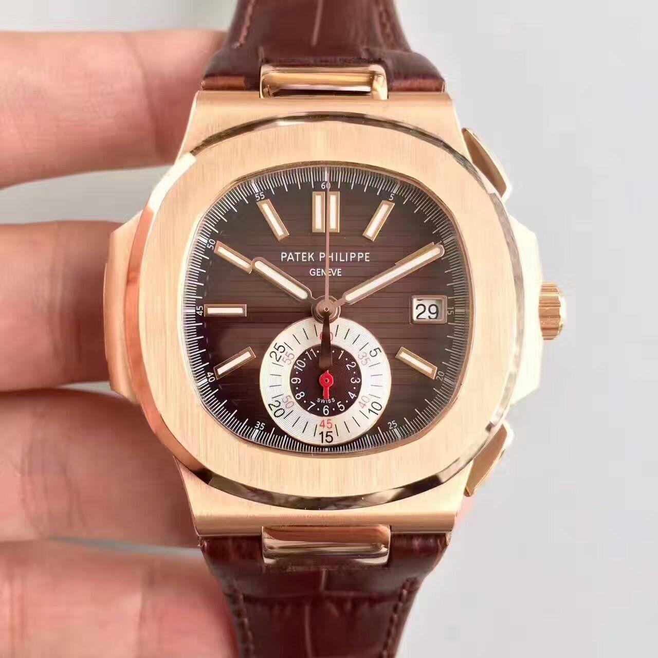 【BP厂1:1复刻手表】百达翡丽运动系列5980R 玫瑰金男士腕表价格报价
