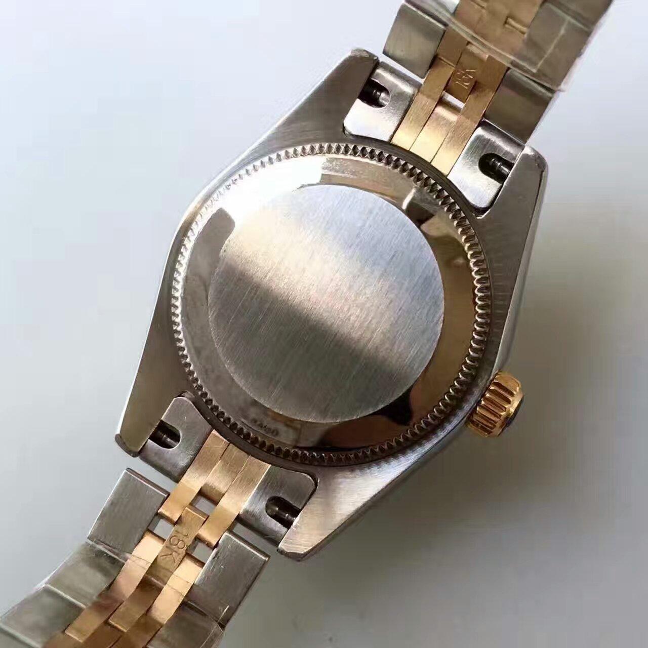 【台湾厂顶级复刻手表】劳力士女装日志型系列279383RBR香槟色表盘女士腕表 / R144