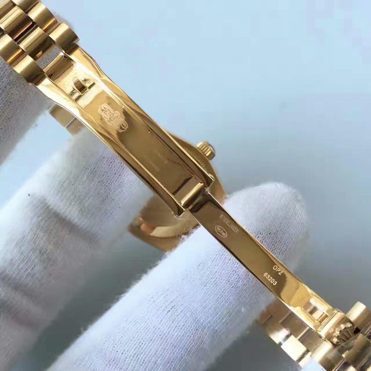 【台湾厂一比一高仿手表】劳力士女装日志型系列白色表盘女士腕表 / R149