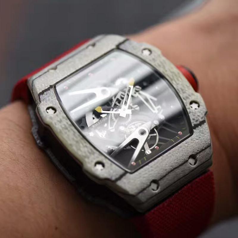 【RM厂顶级1:1复刻高仿手表】查德·米勒首款白色碳纤维腕表RM27-02--轻盈如羽毛