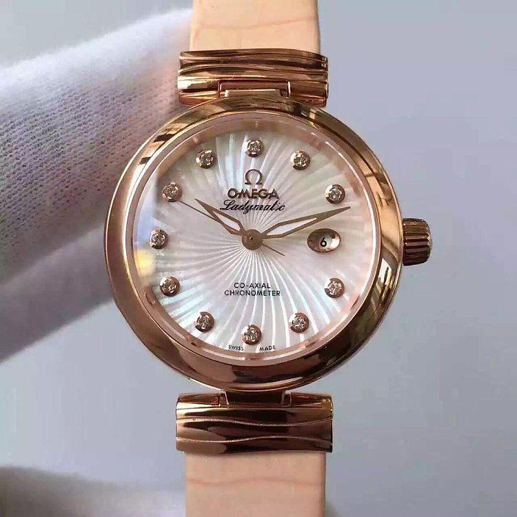 【V6厂一比一超A高仿手表】欧米茄碟飞鸟巢系列425.62.34.20.55.004女士腕表价格报价