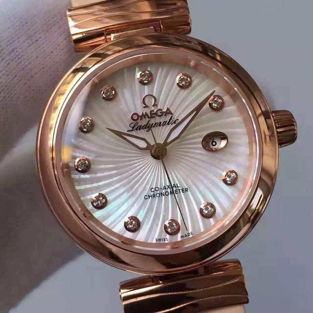 【V6厂顶级复刻手表】欧米茄碟飞鸟巢系列425.62.34.20.55.004女士腕表 / M290