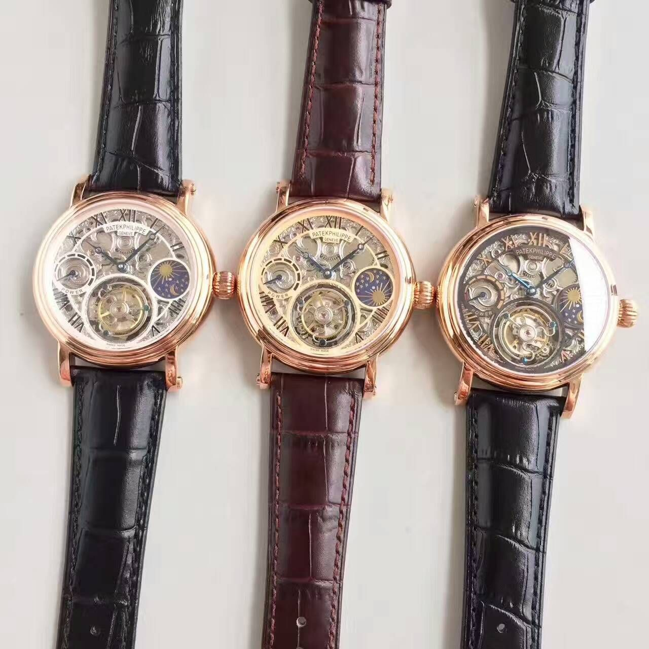 【TF厂一比一精仿手表】百达翡丽镂空雕花动力星辰真陀飞轮腕表 / BD202
