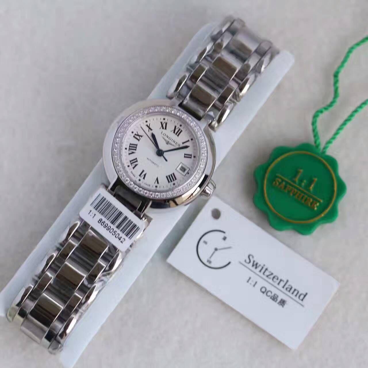 【KZ厂一比一超A高仿手表】浪琴优雅心月系列L8.111.5女士机械腕表 / L077