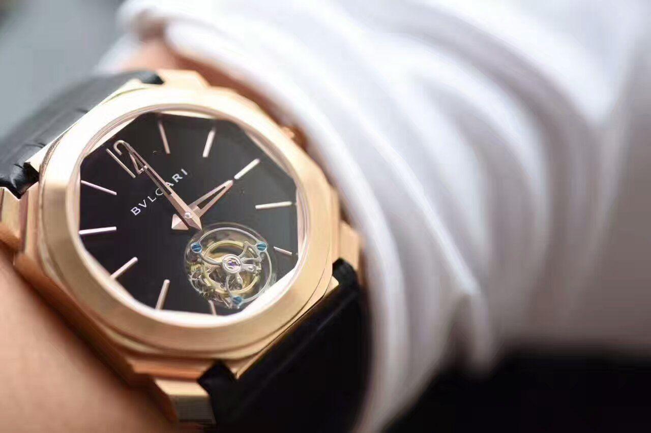 【TF厂1:1复刻手表】宝格丽OCTO系列《手动陀飞轮》102346 BGOP40BGLTBXT腕表