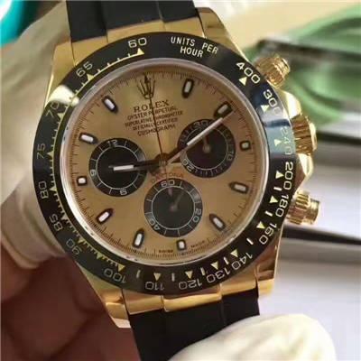 【台湾厂一比一超A高仿手表】劳力士宇宙计型迪通拿系列116518LN腕表