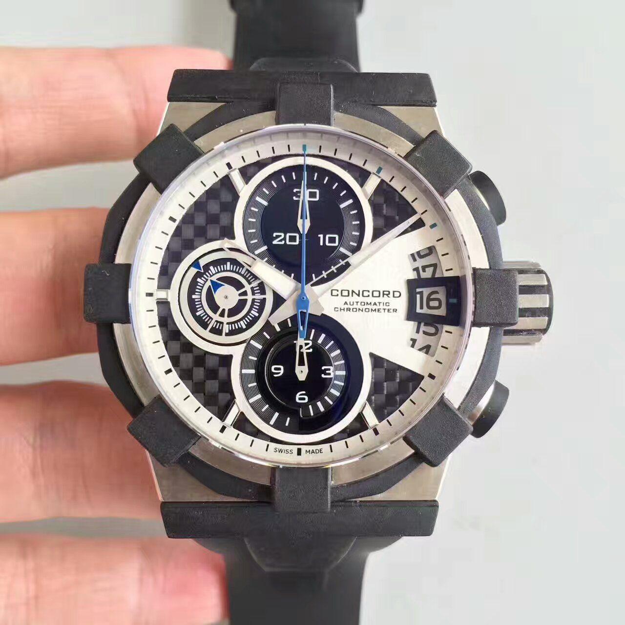 【台湾厂一比一超A高仿手表】CONCORD 君皇 C1 Concord C1 01.5.14.100男士运动 腕表