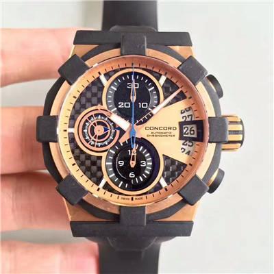 【台湾厂1比1超A高仿手表】君皇C1腕表 Concord C1 Mecatech Chronograph  watch价格报价