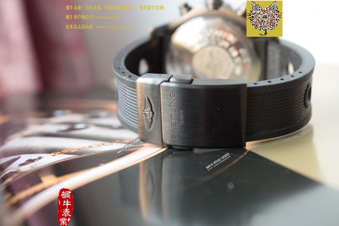 【实物图鉴赏】NOOB厂1:1复刻手表之百年灵复仇者系列黑钢表壳黑色表盘橡胶表带腕表 / BL015.0