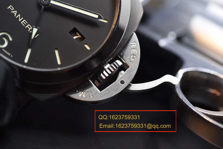 【VS厂顶级复刻手表】沛纳海LUMINOR 1950  3 Days 系列GMT 双时区 PAM 00320腕表 / PABA060