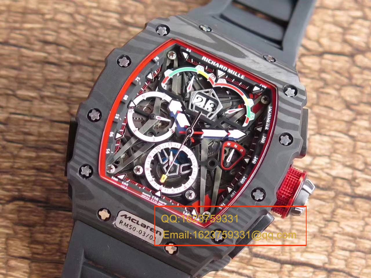 【KV厂顶级复刻手表】理查德.米勒男士系列RM 50-03 McLaren F1腕表 / RM 50-03