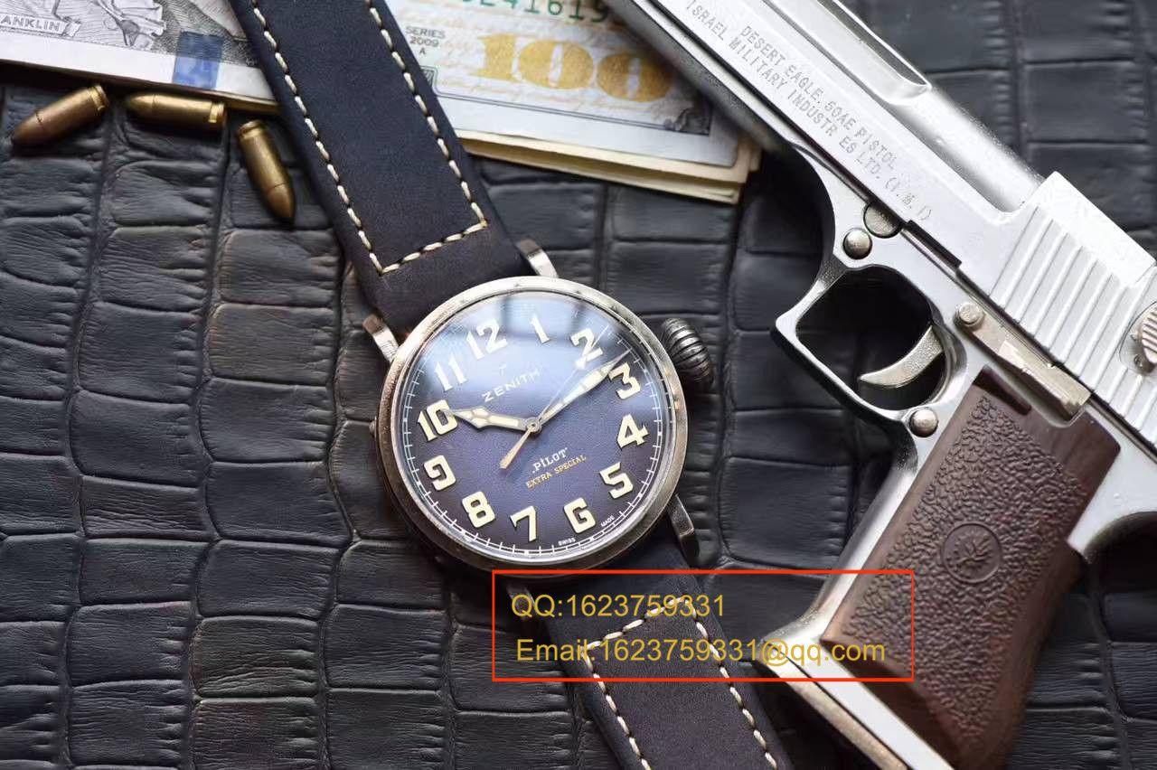 【独家视频测评XF厂顶级复刻手表】真力时飞行员系列11.1940.679 / 53.C808复古大飞腕表 / ZSLB034