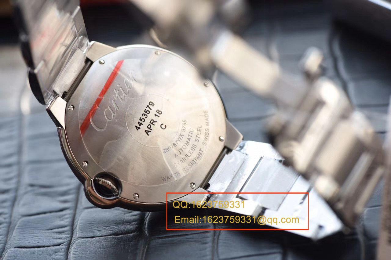 【独家视频测评V6厂一比一超A高仿手表】卡地亚蓝气球系列大号蓝气球42毫米W69012Z4男表 / K128