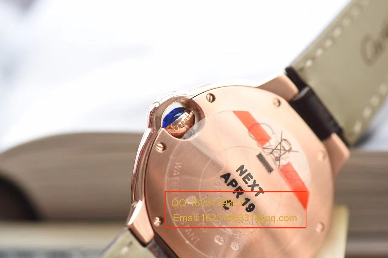 【独家视频测评V6厂一比一超A高仿手表】卡地亚小号蓝气球系列33毫米W6920097女士腕表
