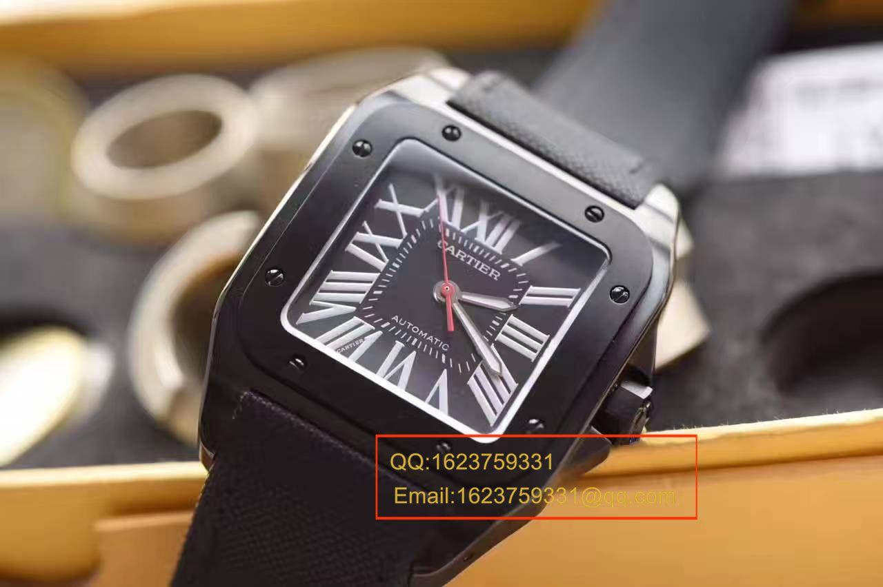 【HBBV6厂顶级复刻1:1精仿手表】卡地亚山度士系列黑骑士WSSA0006腕表