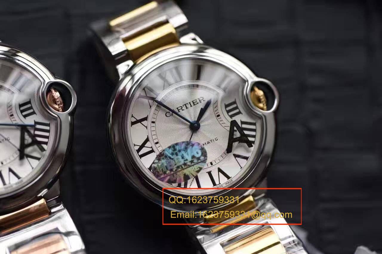 【独家视频测评V6厂1:1超A高仿手表】卡地亚中号蓝气球36毫米系列W2BB0012女士腕表 / K095