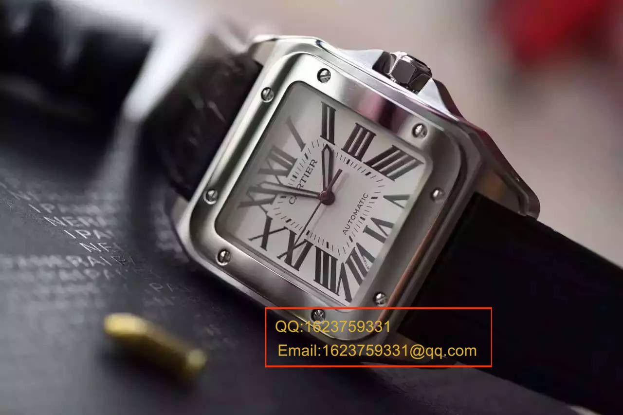 【视频解析V6厂1:1超A精仿手表】卡地亚山度士自动机械男表W20106X8机械腕表