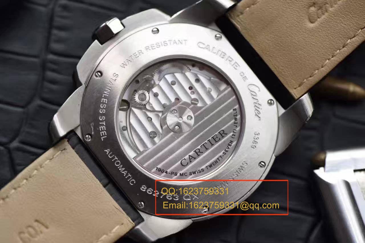 【独家视频解析JF一比一超A高仿手表】卡地亚CALIBRE DE CARTIER卡历博系列W7100013腕表 / KAI026