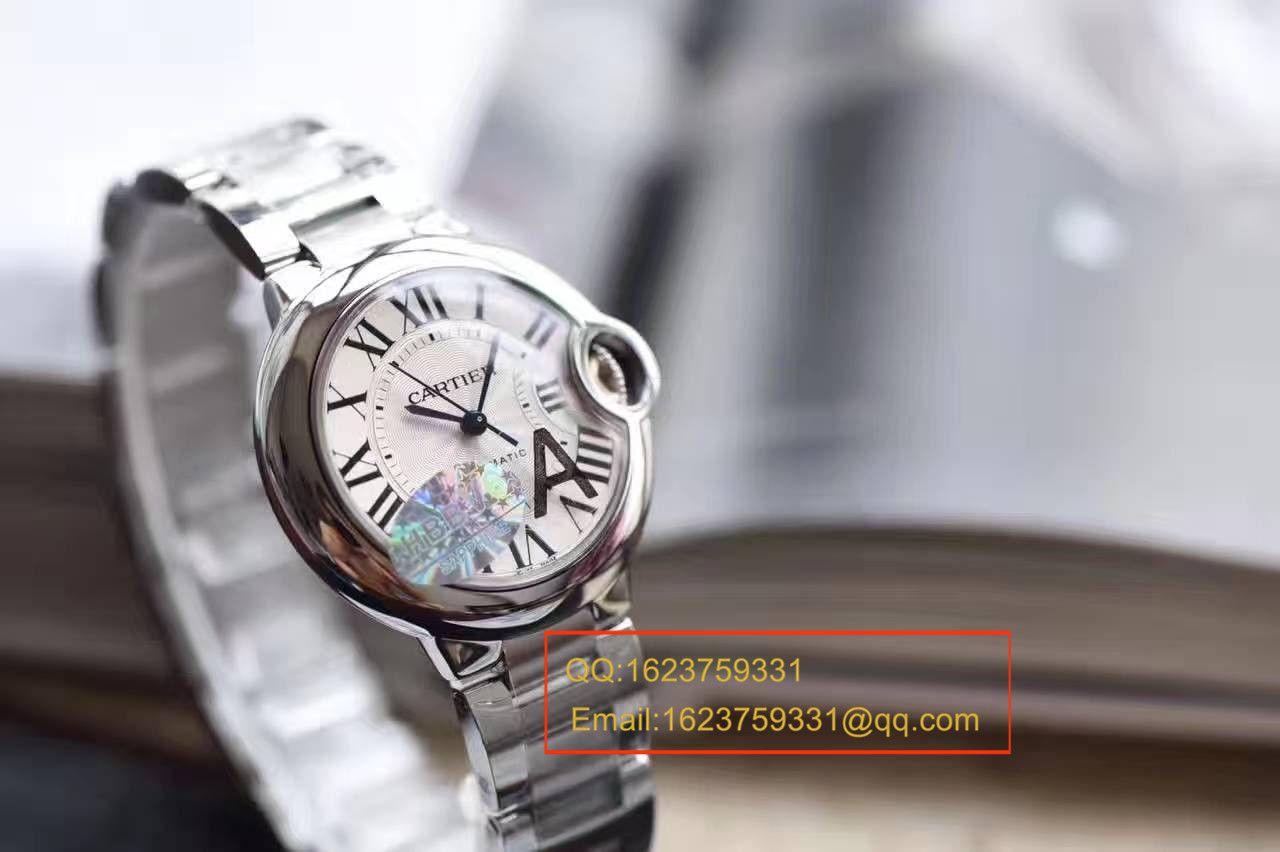 【独家视频解析V6厂顶级复刻手表】卡地亚蓝气球系列小号33毫米机械女表W6920071/W6920085 / K117