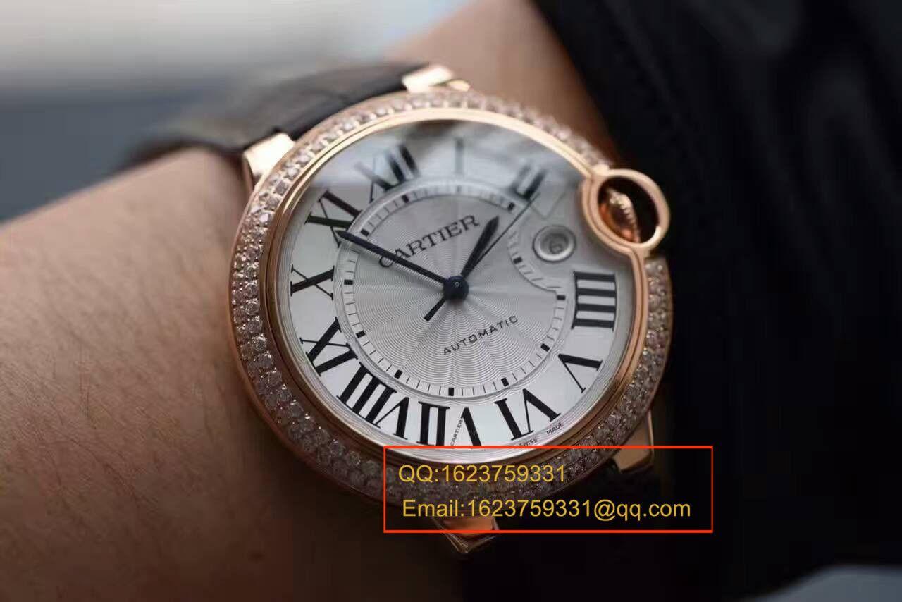 【HBBV6厂一比一超A精仿手表】卡地亚蓝气球系列WE900851男士42毫米镶钻腕表 / KAI082