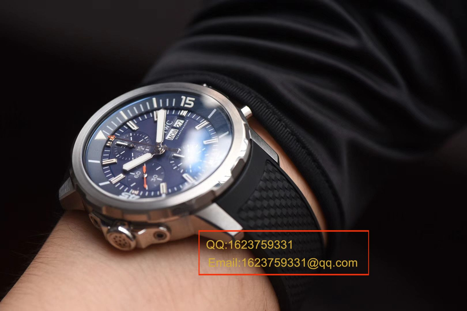 【独家视频测评V6厂顶级复刻手表】万国海洋时计系列IW376805蓝面腕表 / WGBD307