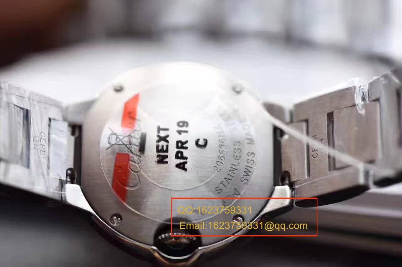 【独家视频测评V6厂一比一超A精仿手表】卡地亚蓝气球系列小号28毫米WE902073女士石英腕表 / K063