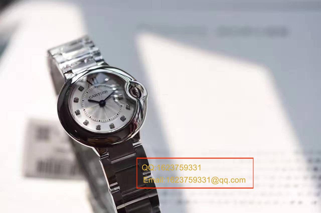 【独家视频测评V6厂一比一超A精仿手表】卡地亚蓝气球系列小号28毫米WE902073女士石英腕表