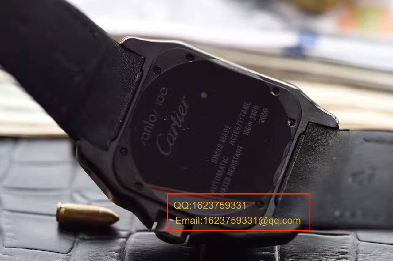 【独家视频测评HBBV6厂超A高仿手表】卡地亚桑托斯 SANTOS 100系列系列 W2020010 机械男表 / KBA033