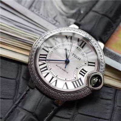 【HBBV6厂顶级复刻手表】卡地亚蓝气球系列WE902065女士33毫米镶钻机械腕表