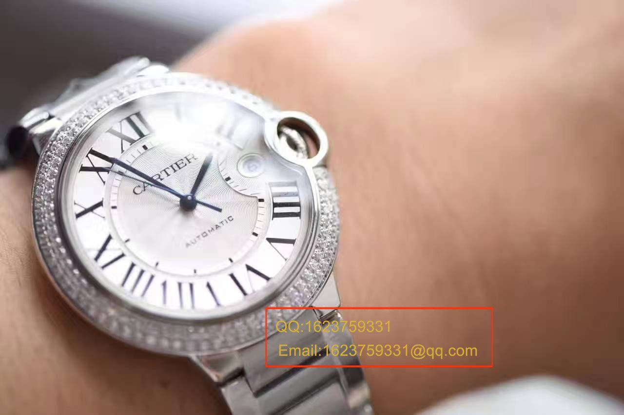 【HBBV6厂顶级复刻手表】卡地亚蓝气球系列WE9009Z3男装42毫米镶钻腕表 / K120