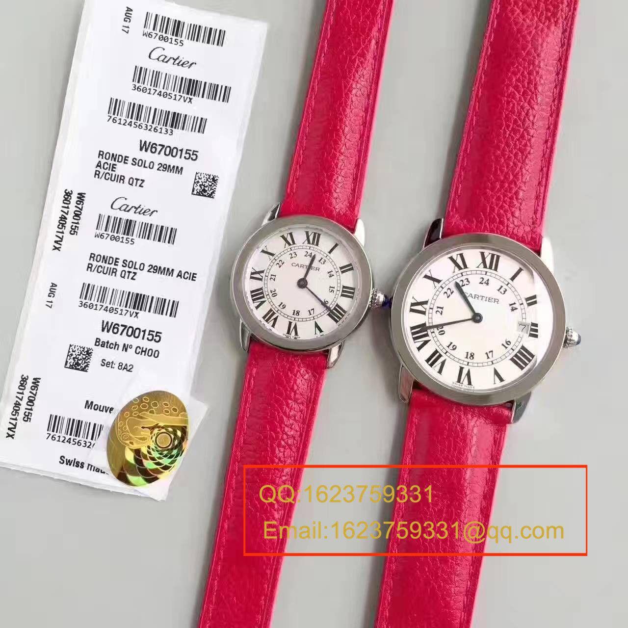 【K11厂正品开模顶级复刻手表】卡地亚RONDE DE CARTIER伦敦SOLO系列W6700155、W6700255女士石英腕表 / KAD078
