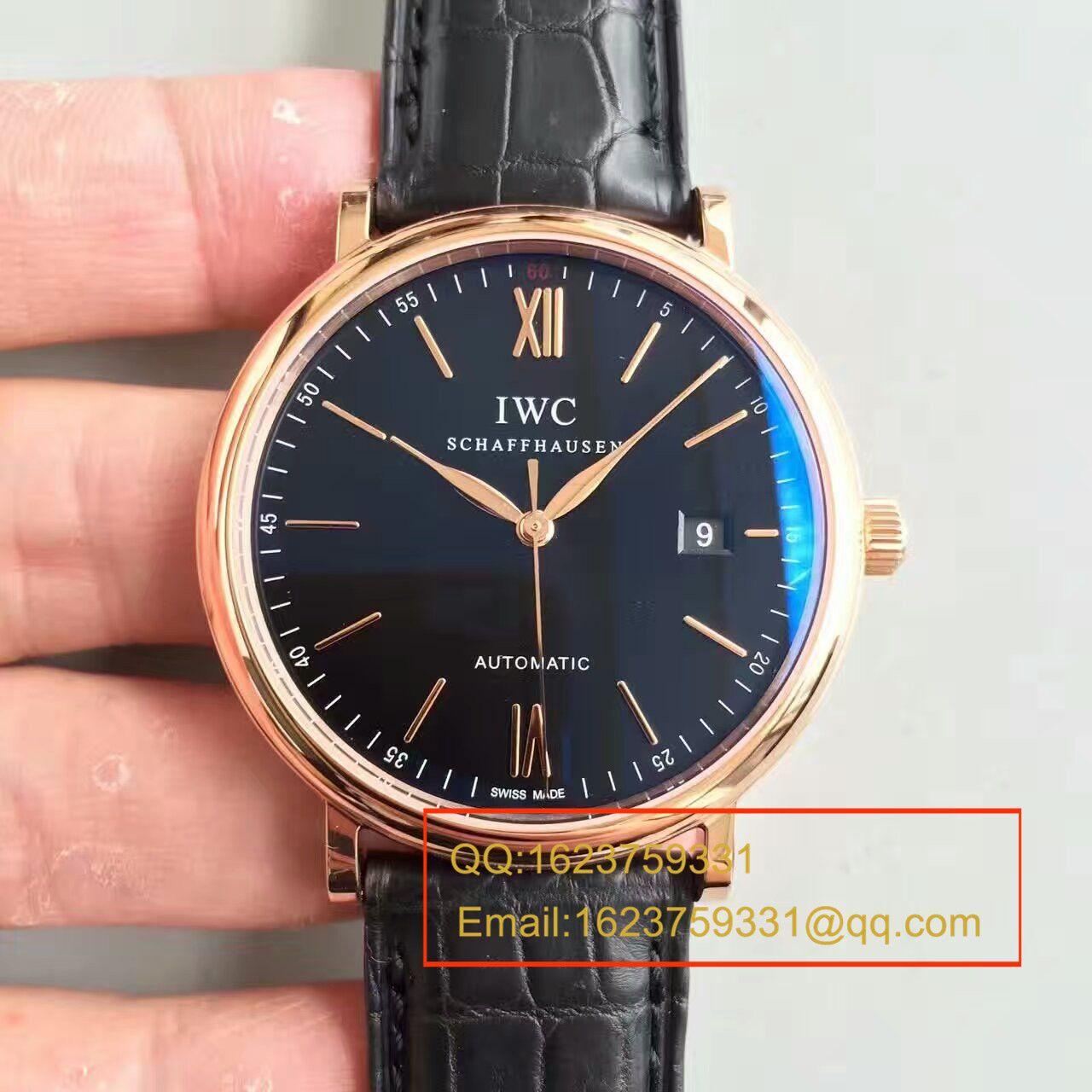 【独家视频测评MK厂1:1高仿手表】万国 IWC 柏涛菲诺系列 大三针 IW356512 男士手表 / WGAH117