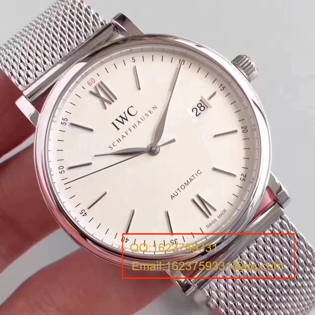 【独家视频测评MK厂一比一超A精仿手表】万国柏涛菲诺系列IW356505精钢米兰表链腕表 / WG116