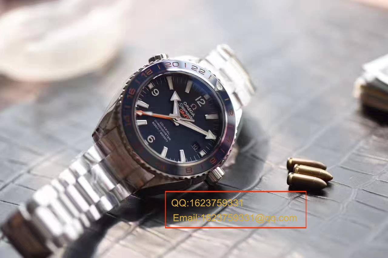【独家视频测评KW厂顶级1:1复刻手表】欧米茄海马系列232.30.44.22.03.001《GMT美好星球》腕表