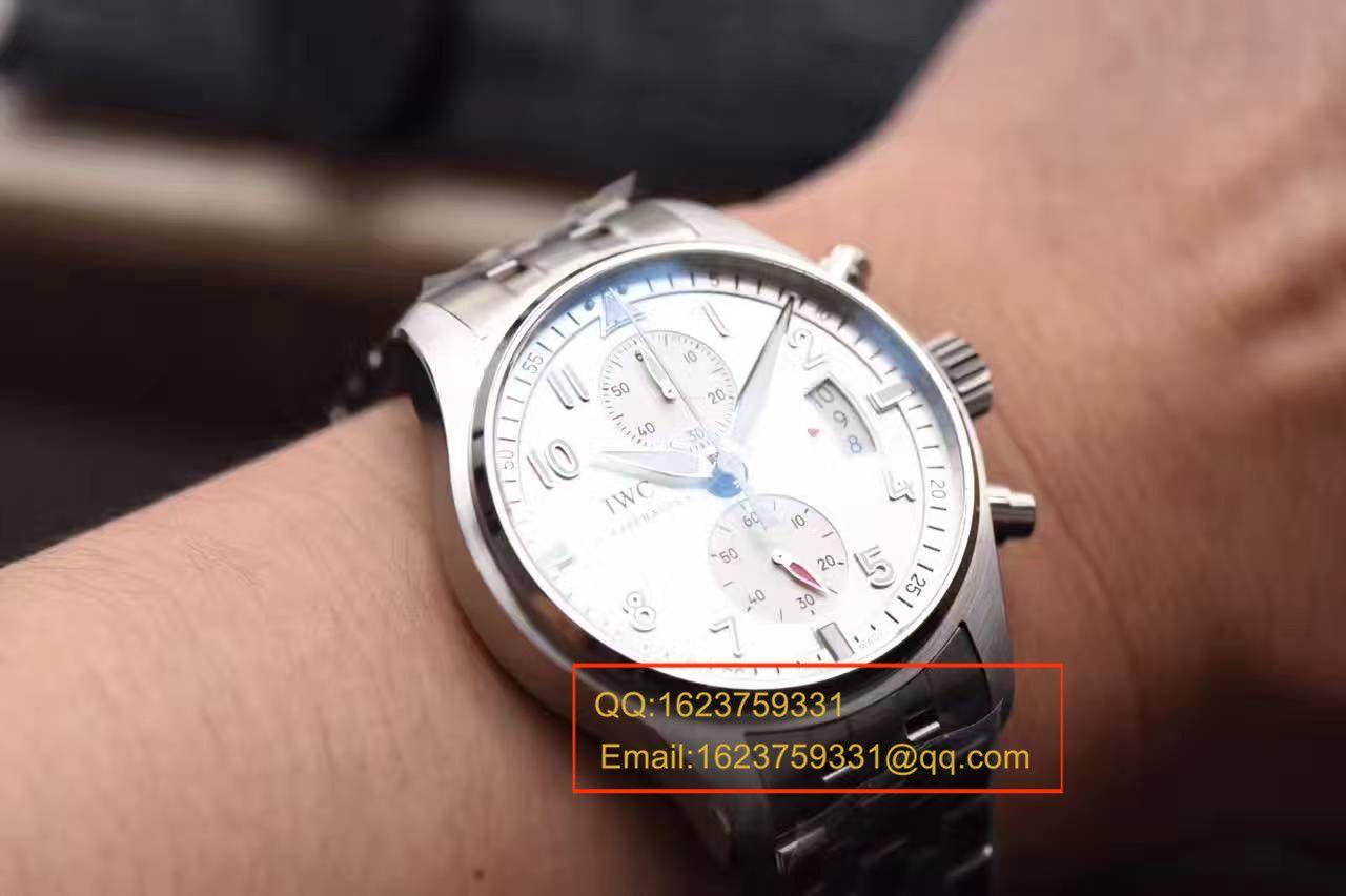 """【独家视频测评】HBBV6厂1:1超A高仿万国飞行员计时腕表 """"JU-AIR""""特别版系列IW387809腕表"""