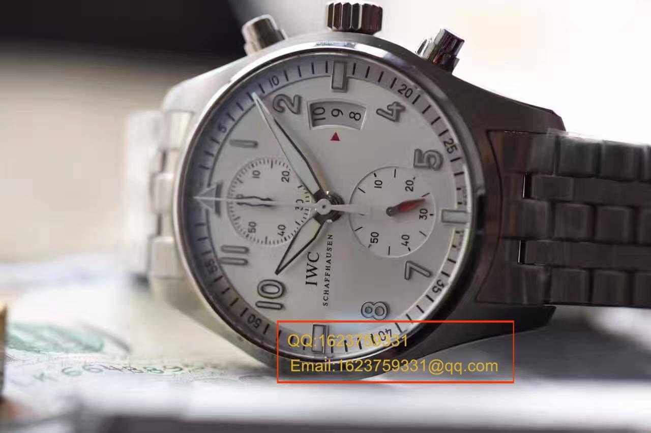 """【独家视频测评】V6厂一比一超A高仿手表万国飞行员计时 """"JU-AIR""""特别版系列IW387809钢带 / WG168"""