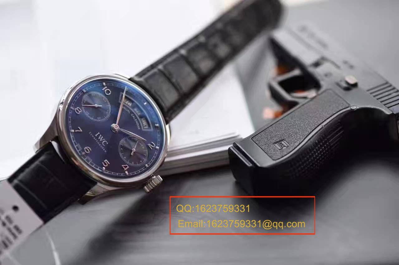 【独家视频测评YL厂一比一超A高仿手表】万国葡萄牙系列年历IW503502万国年历腕表