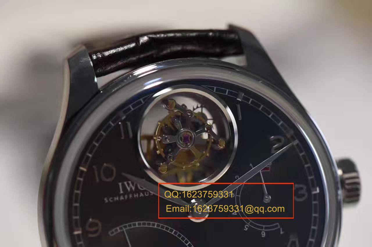【独家视频测评YL一比一超A精仿手表】万国葡萄牙系列逆跳陀飞轮IW504401腕表 / WG104A