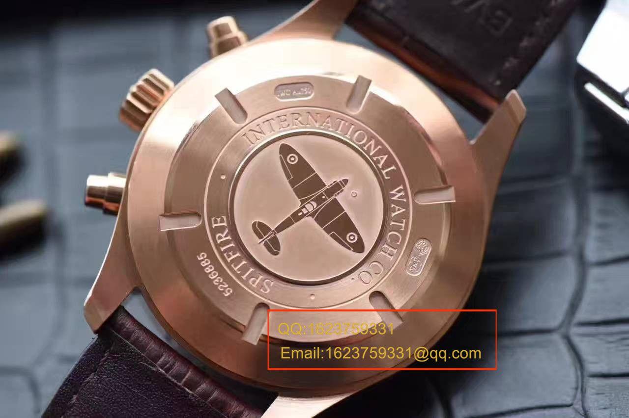 【独家视频评测一比一超A高仿手表】万国SPITFIRE CHRONOGRAPH喷火战机计时腕表系列IW387803腕表