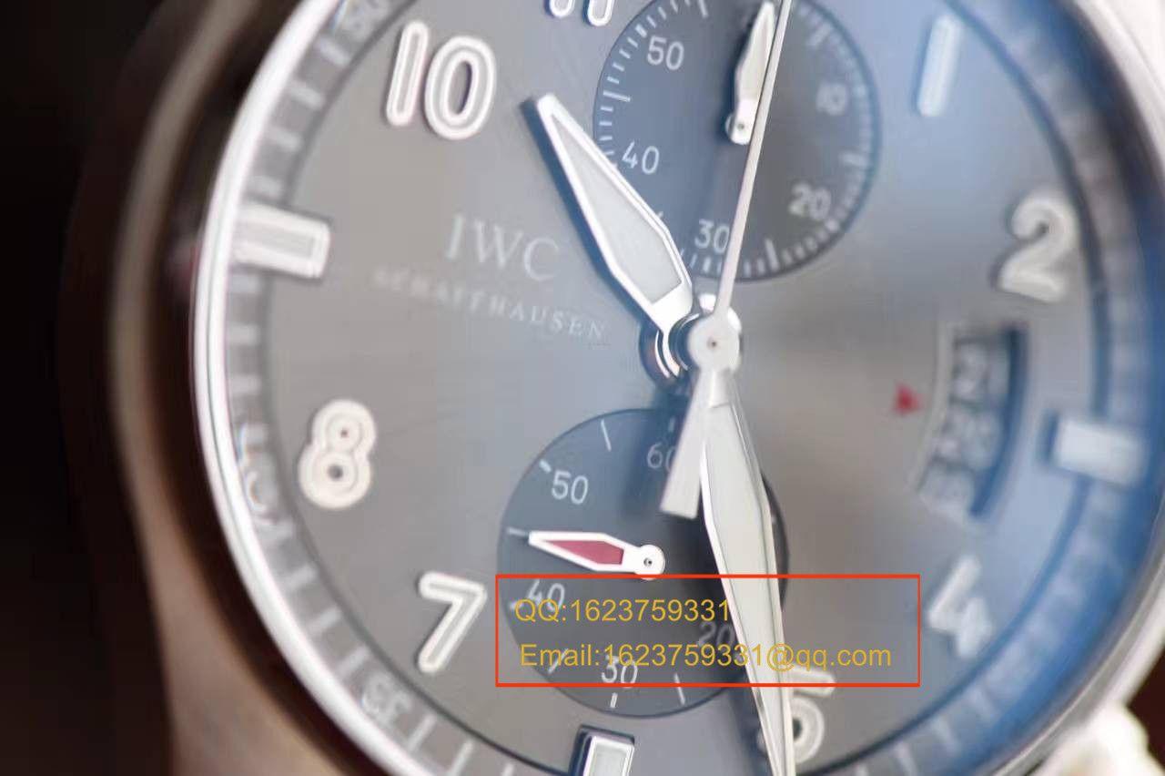 【独家视频测评一比一超A高仿手表】万国飞行员喷火战机计时腕表系列IW387808腕表 / WG138A