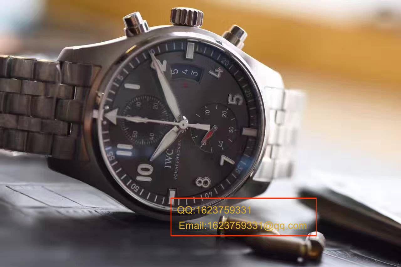 【独家视频测评V6厂一比一超A高仿手表】万国飞行员喷火战机计时腕表系列 IW387804腕表