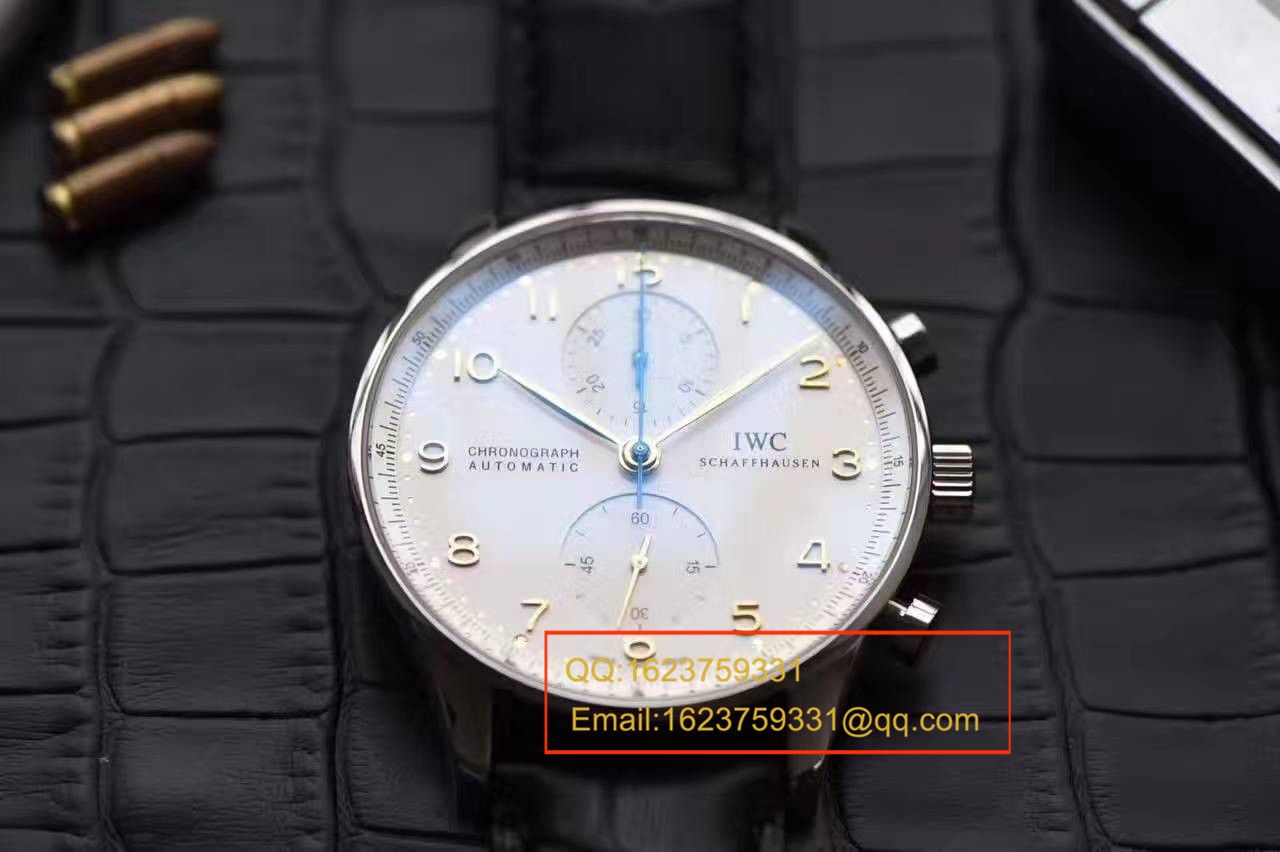 【独家视频测评YL厂V7版本1:1顶级复刻手表】万国葡萄牙系列葡萄牙计时IW371445黄定钉刻度腕表