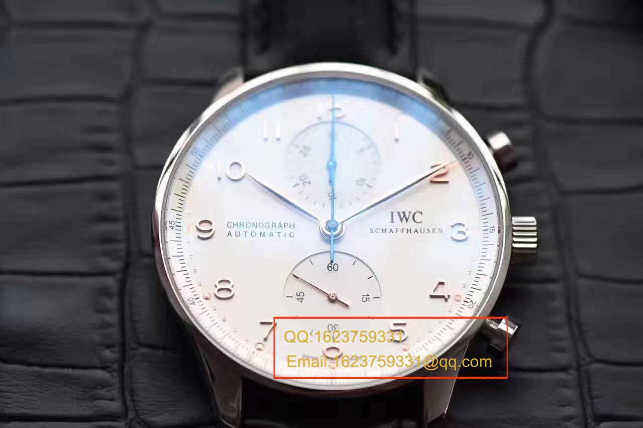 【独家视频测评】【YL厂V7版本一比一超A高仿手表】万国葡萄牙计时系列IW371417腕表(葡计烧钢蓝针) / WG275