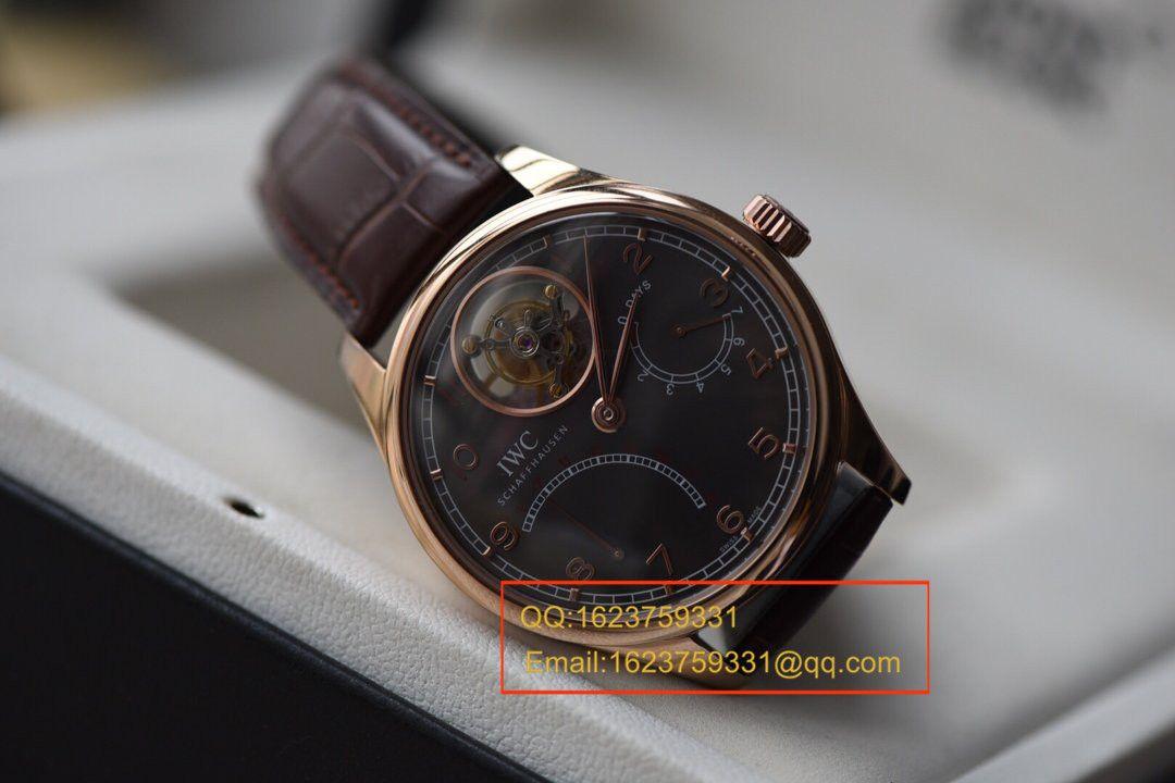 【TF厂一比一复刻高仿手表】万国葡萄牙系列IW504402 、IW504602真陀飞轮逆跳腕表