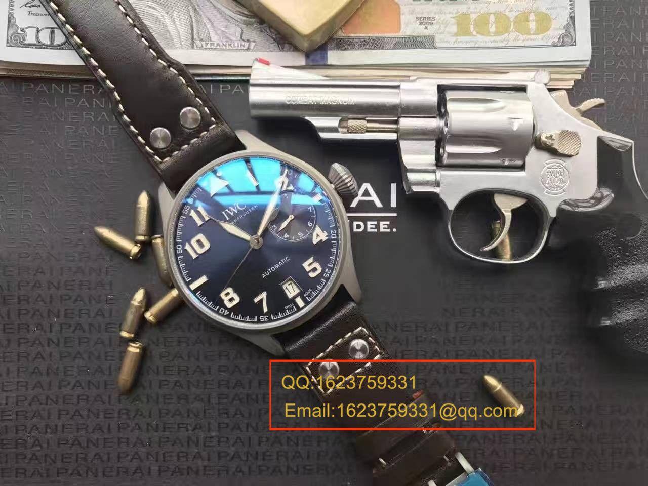 【独家视频测评】YL厂1:1超A精仿手表之万国大型飞行员特别版喷砂精钢壳套蓝面男表