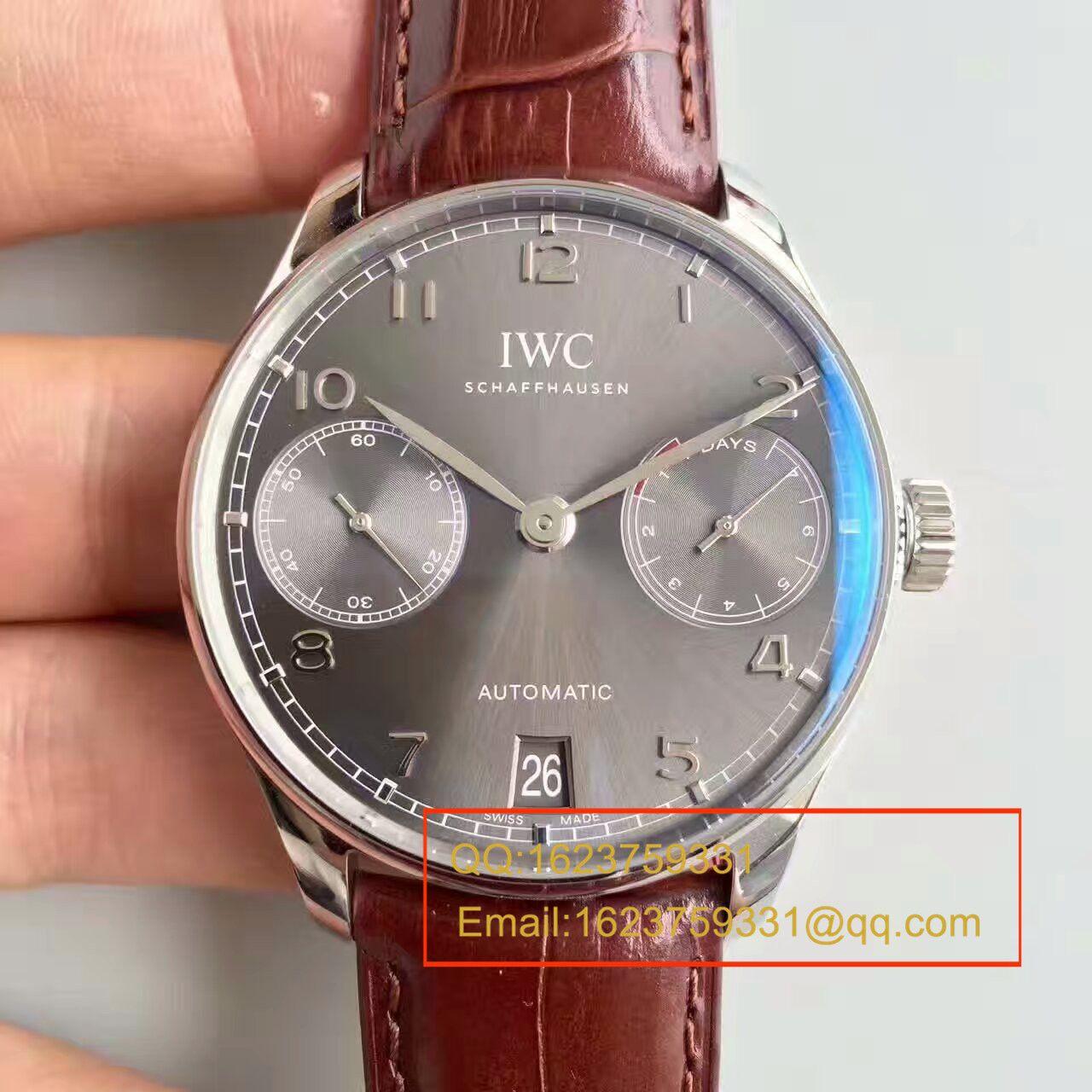 【独家视频测评】【ZF一比一超A高仿手表】万国葡萄牙计时系列IW500705腕表(万国七日链) / WG256