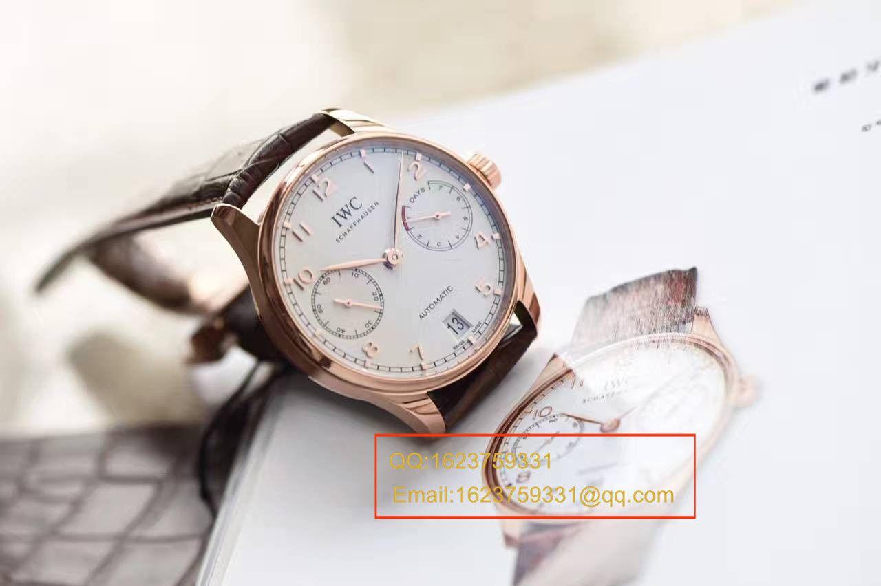 【独家视频评测】【ZF厂顶级一比一复刻手表】万国葡萄牙计时系列IW500701腕表(万国七日链) / WG230